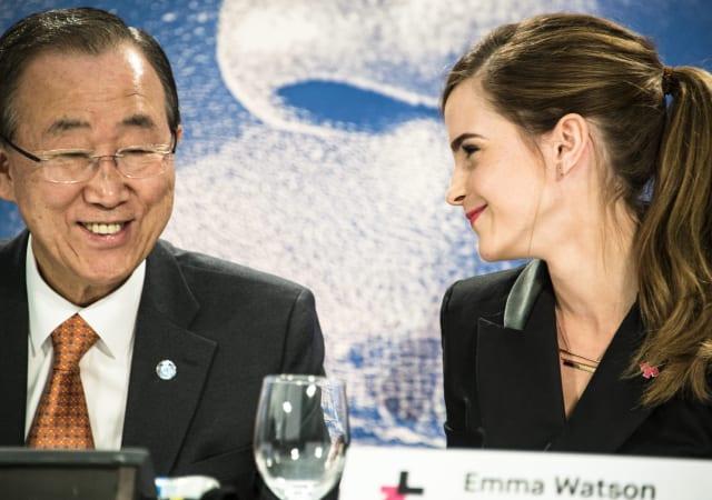 Ban Ki Moon and Emma Watson