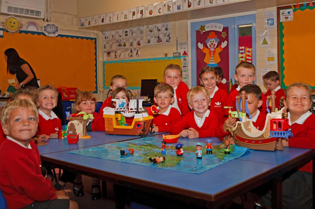 Children settle into their reception class