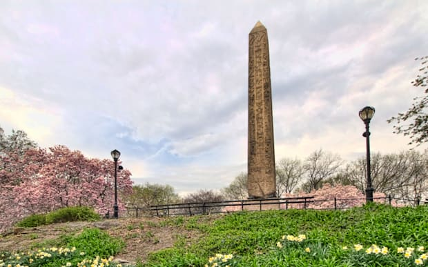 An High Dynamic Range View of Cleopatra's Needle on a Cloudy Spring Morning in New York City's Central Park