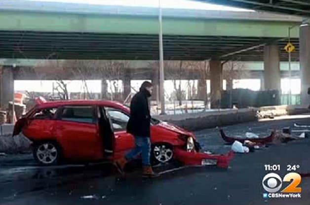 Toyota Matrix NYC Crash