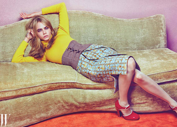 €‹Cara Delevingne stuns in W's summer issue