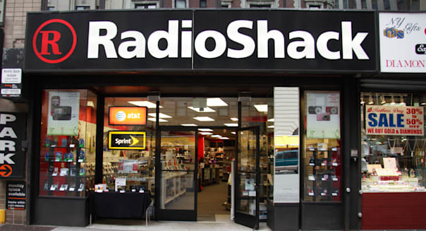 The shopfront of a RadioShack store on Broadway, New York.