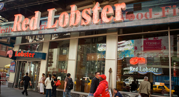 A Red Lobster restaurant in Times Square in New York