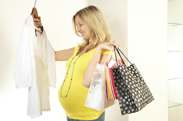 pregnant woman with purchase...