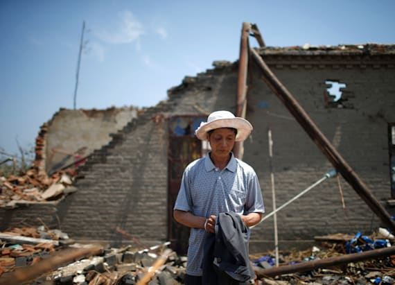 China cleans up hazardous chemicals after tornado