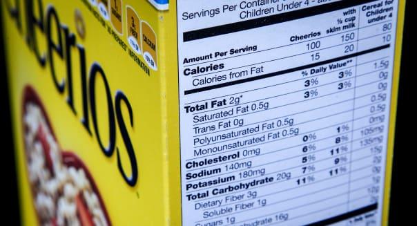 FDA Nutrition Facts Label