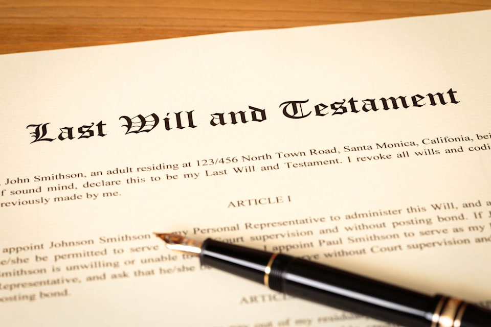 last will and testament with...