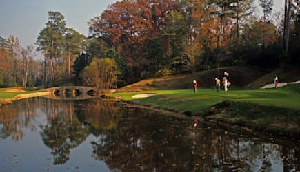 USA, Georgia, Augusta, Golf Course in autumn