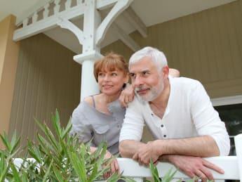 portrait of senior couple...