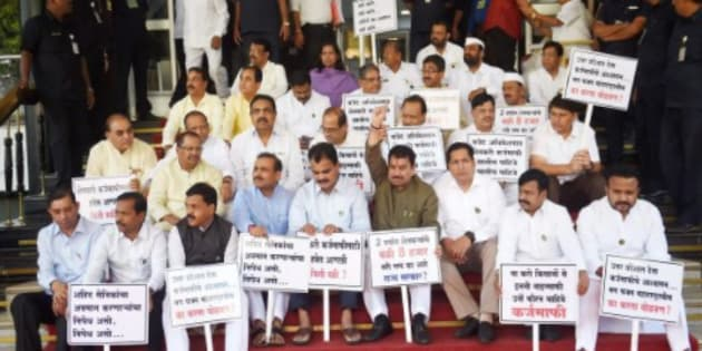 Maharashtra MLAs suspended from Assembly for 9 months; Opposition cries foul