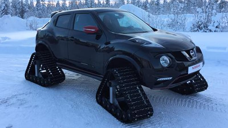 nissan juke in snow 2017 - ototrends.net