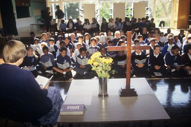 Christian assembly in an Anglican school in south London