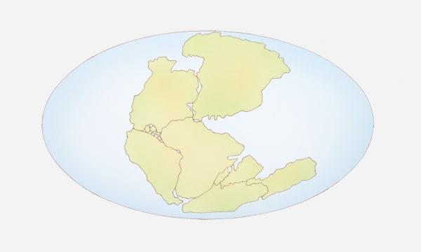 Illustration of the supercontinent Pangaea