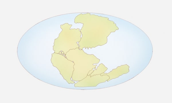 Illustration of the supercontinent Pangaea