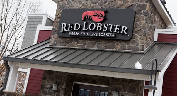 A Red Lobster seafood casual dining chain restaurant.