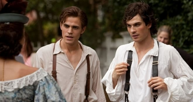 """""""Lost Girls"""" - Pictured (L-R) Ian Somerhalder as Damon and Paul Wesley as Stefan in THE VAMPIRE DIARIES on The CW.Photo: Bob Mahoney/The CW©2009 The CW Network, LLC. All Rights Reserved."""