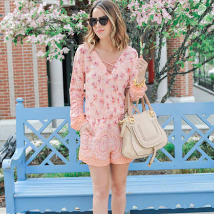 Street style tip of the day: Floral print romper
