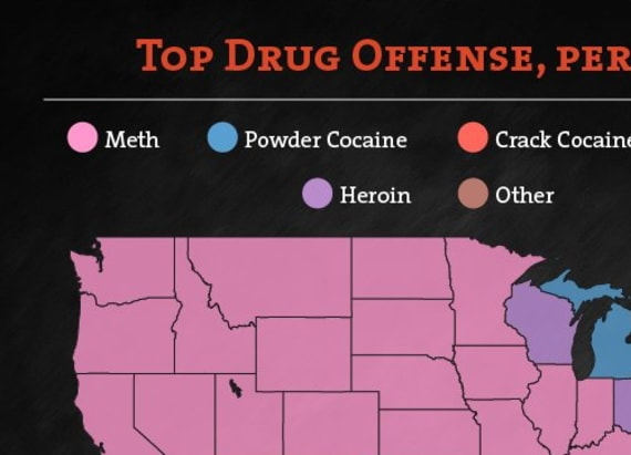 Graphic shows how widespread meth is in the US