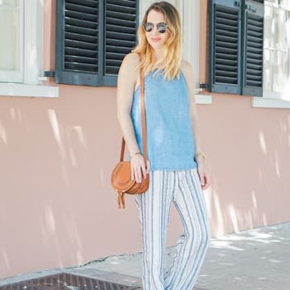 Street style tip of the day: Stripes in Charleston