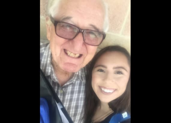 Teen and her 82-year-old grandfather go to college