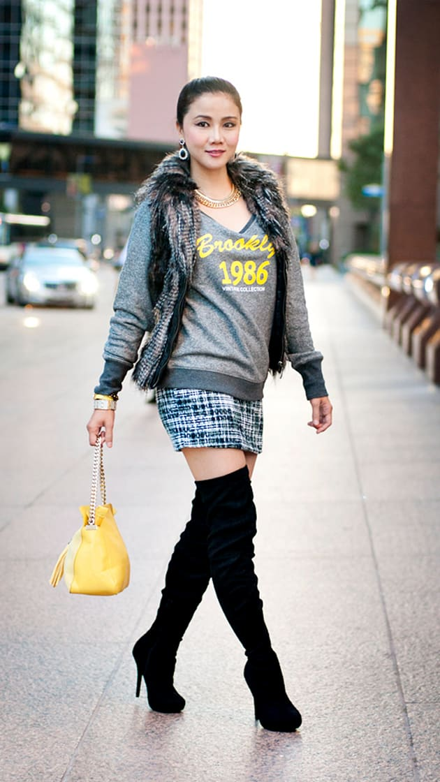 Street style tip of the day: Tweed