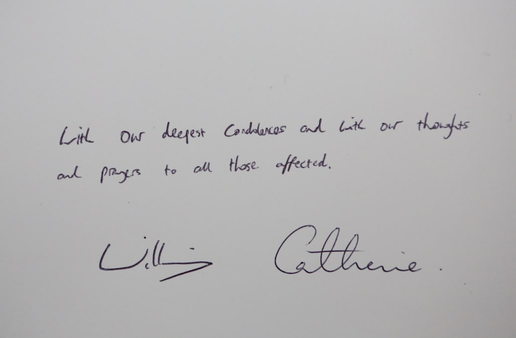The Duke & Duchess of Cambridge Sign Book of Condolence For Orlando Shootings Victims
