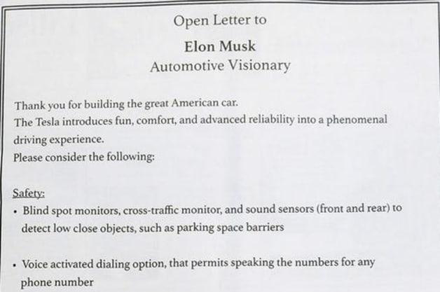 Elon Musk Tesla Open Letter Ad