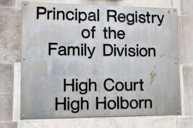 Principal Registry of the Family Division High Holborn Court, Holborn, London, UK.