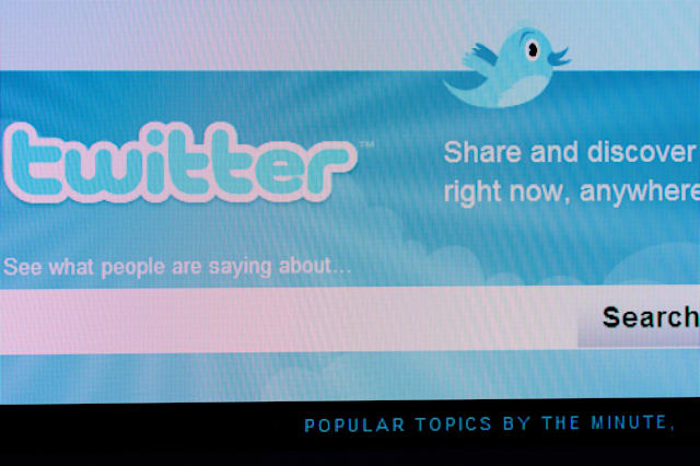 the twitter logo on a computer screen