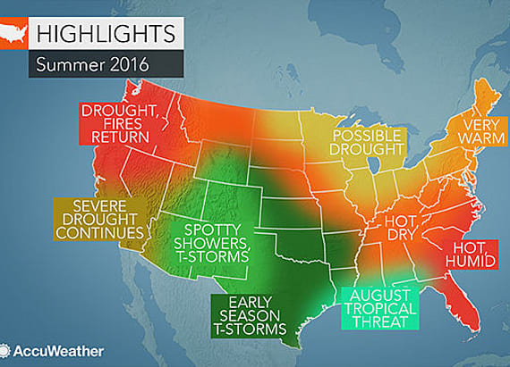 AccuWeather releases summer forecast