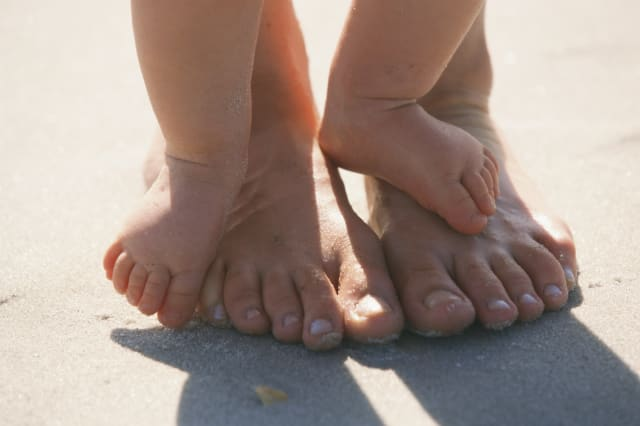 Feet of Mother and Child