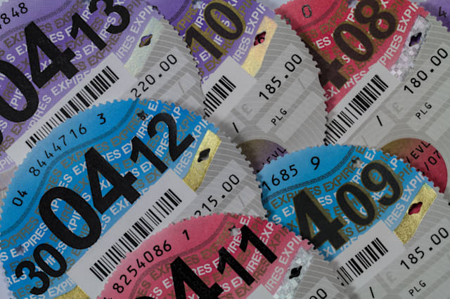 various car tax discs 2008 to...