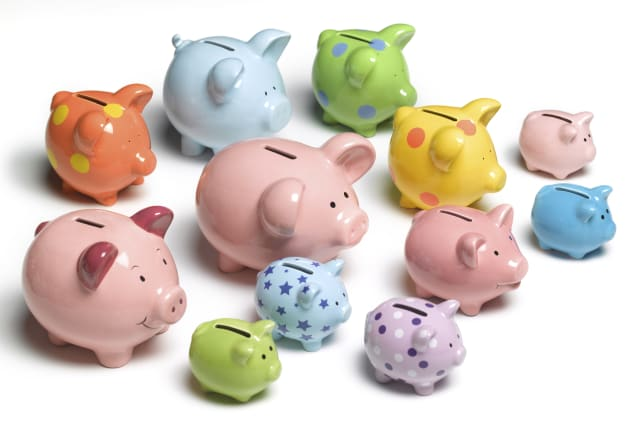Collection of piggy banks