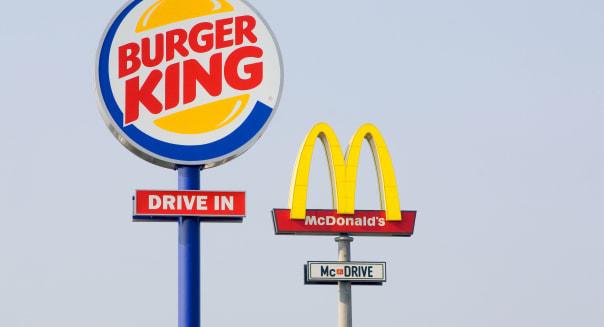Mc Donald s and Burger King logo