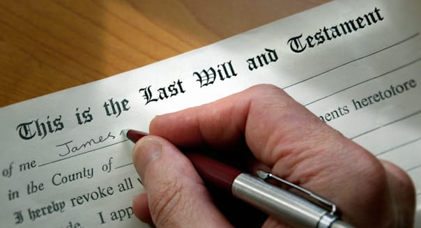 Writing a last will and testament