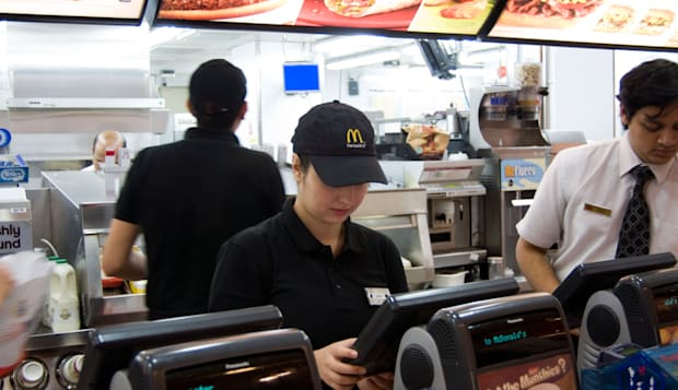McDonald's staff, England UK