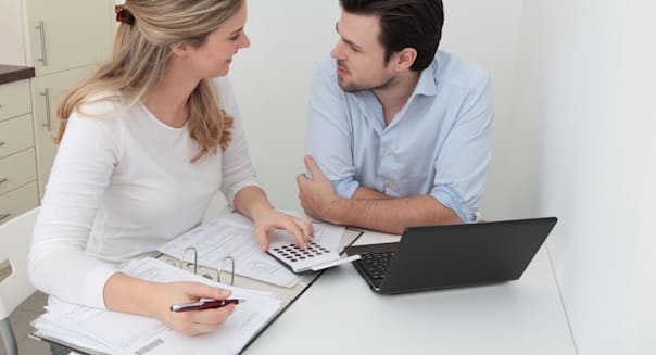 young couple finances retirement planning