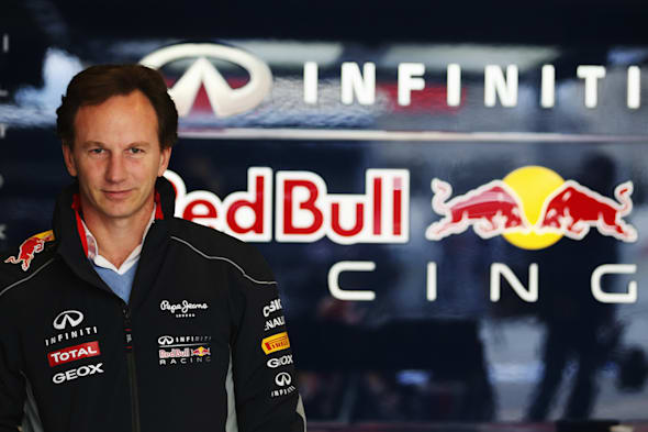 MONTMELO, SPAIN - FEBRUARY 20:  Infiniti Red Bull Racing Team Principal Christian Horner is seen during day two of Formula One winter test at the Circuit de Catalunya on February 20, 2013 in Montmelo, Spain.  (Photo by Mark Thompson/Getty Images) *** Local Caption *** Christian Horner
