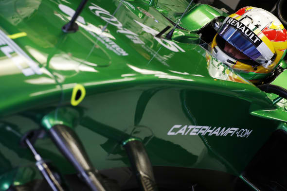 Autodromo Nazionale di Monza, Monza, Italy.Friday 5 September 2014.Roberto Merhi, Caterham CT05 Renault.World Copyright: Charles Coates/LAT Photographic.ref: Digital Image _N7T7410