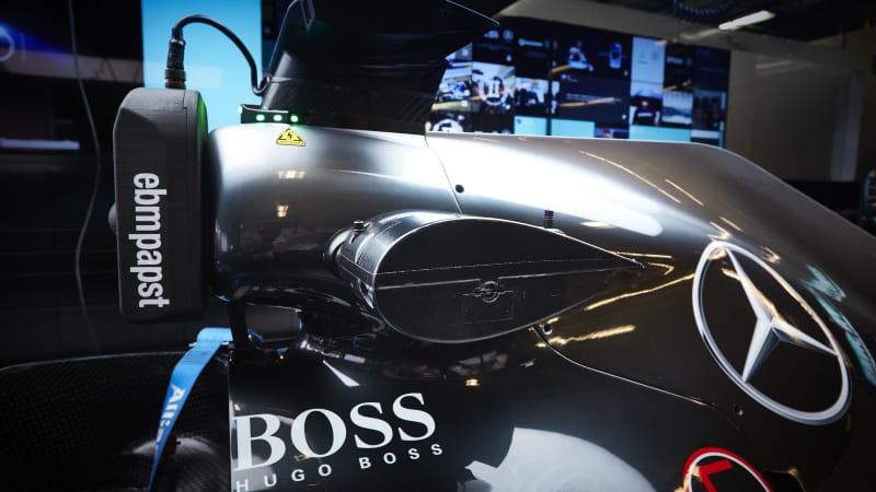Qualcomm wifi setup on Mercedes-AMG F1 car