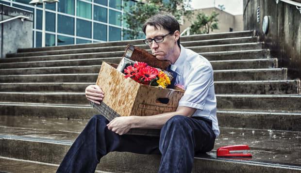 Downsized: Unemployed Businessman