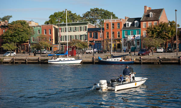 Fells point waterfront Baltimore Maryland