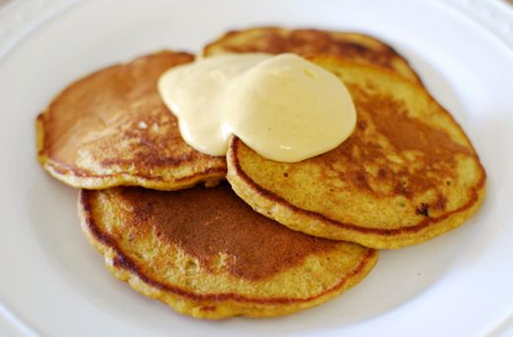 Pumpkin Pancakes with Pumpkin Yogurt Mousse - AOL.com