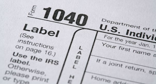 Details of a United States Tax Form.