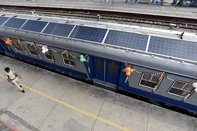 Union Railway Minister Suresh Prabhu Flags Off Solar Powered Demu Train