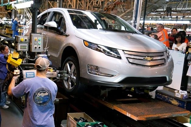 Chevy Volt in production