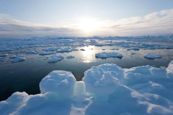 Sea ice in fjord, Tiniteqilaq, Greenland