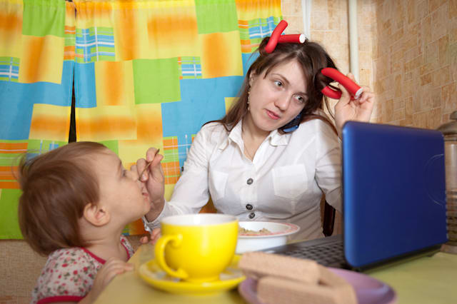 Working at home with young children