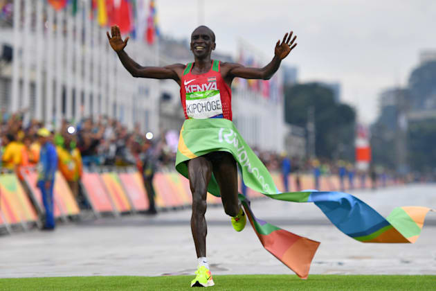 Kipchoge narrowly misses sub two-hour marathon attempt