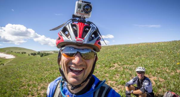 Rob Albert on the Colorado trail.